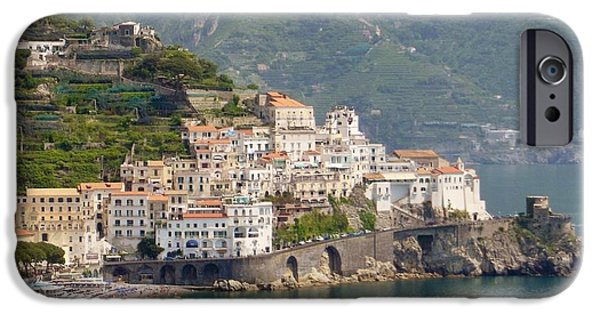 Town iPhone Cases - Amalfi Splendor iPhone Case by Marilyn Dunlap