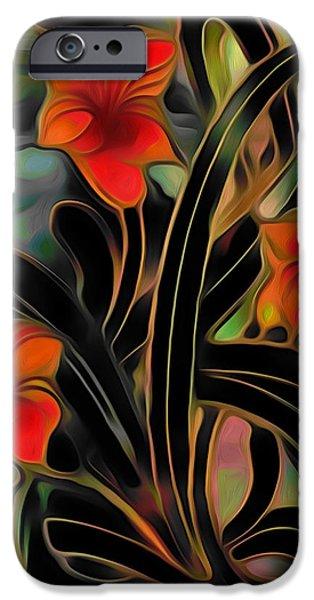 Walker Digital Art iPhone Cases - Amaryllis iPhone Case by  Fli Art