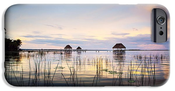 Hut iPhone Cases - Amazing bay sunset iPhone Case by Yuri Santin