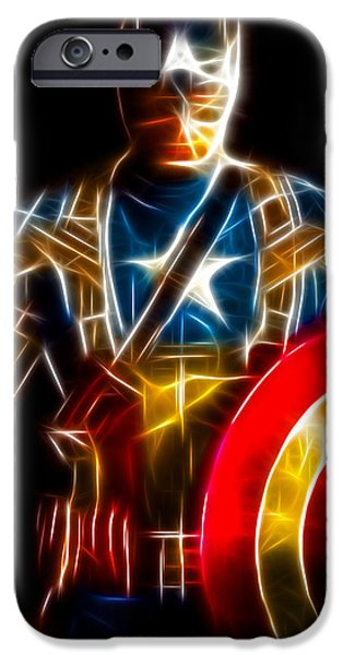 Ironman iPhone Cases - Amazing Captain America iPhone Case by Pamela Johnson