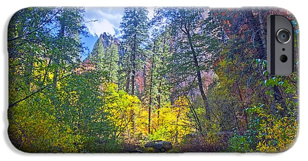 West Fork Mixed Media iPhone Cases - Amazing Color iPhone Case by Brian Lambert