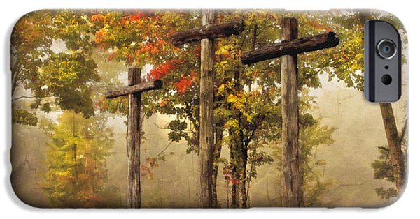 Smokey Mountains iPhone Cases - Amazing Grace iPhone Case by Debra and Dave Vanderlaan