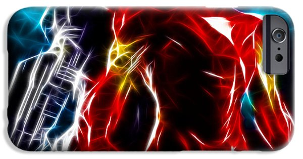 Ironman iPhone Cases - Amazing Iron Man And War Machine iPhone Case by Pamela Johnson