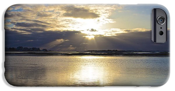 Storm Clouds Cape Cod iPhone Cases - Amazing Sunrise iPhone Case by Amazing Jules