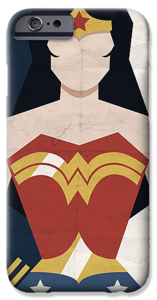 Comics iPhone Cases - Amazon Princess iPhone Case by Michael Myers