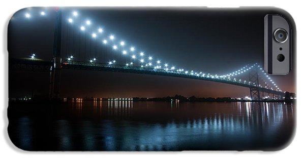 Windsor iPhone Cases - Ambassador Bridge Fog iPhone Case by Cale Best
