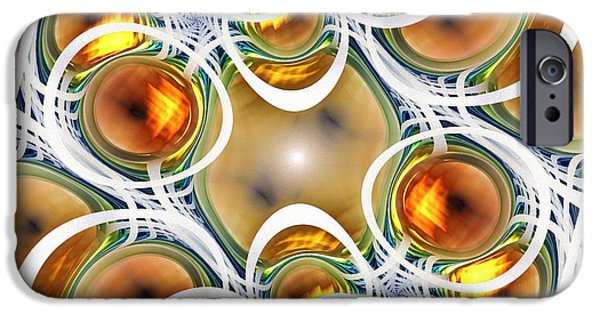 Recently Sold -  - Abstracts iPhone Cases - Amber Clusters iPhone Case by Anastasiya Malakhova