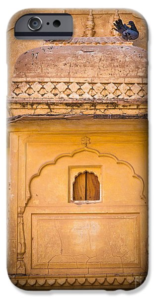 Amber iPhone Cases - Amber Fort Birdhouse iPhone Case by Inge Johnsson