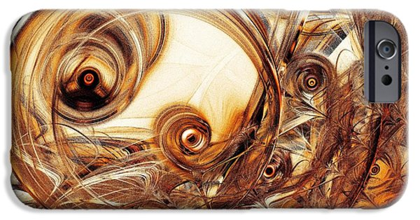Circle Digital iPhone Cases - Amber Magic iPhone Case by Anastasiya Malakhova