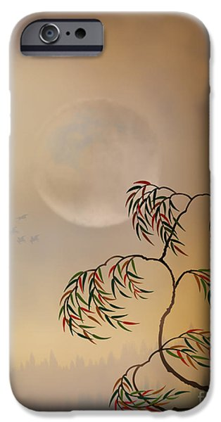 Awak Mixed Media iPhone Cases - Amber Vision iPhone Case by Bedros Awak