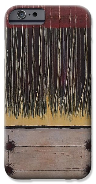 Representative Abstract Mixed Media iPhone Cases - Ambiguity iPhone Case by Lloyd Knowles