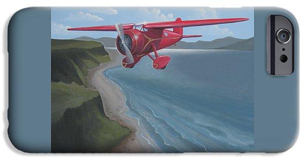 Aeronautics iPhone Cases - Amelias Lockheed Vega iPhone Case by Stuart Swartz
