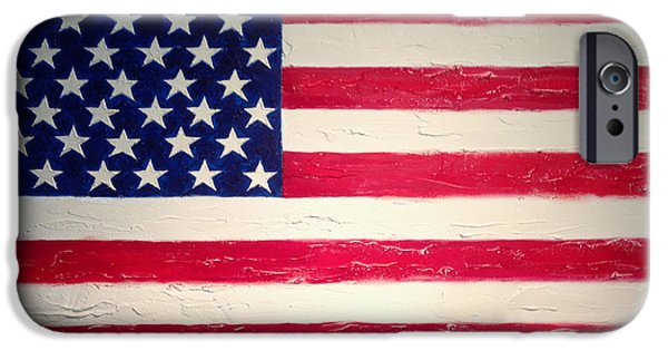 Prescott Paintings iPhone Cases - America America iPhone Case by Mark Prescott Crannell