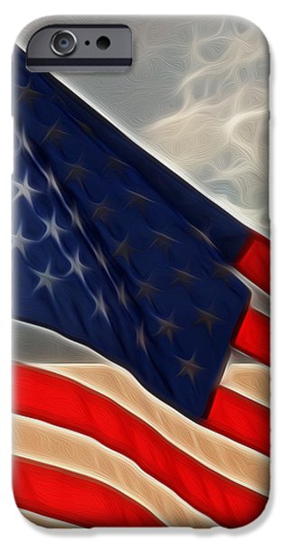 Betsy Ross iPhone Cases - America iPhone Case by Cheryl Young