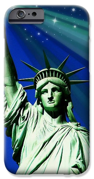 4th July Photographs iPhone Cases - America iPhone Case by Diana Angstadt