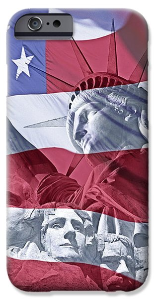 President iPhone Cases - America iPhone Case by Edmund Nagele