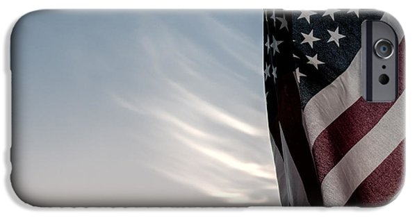 Patriotism iPhone Cases - America iPhone Case by Peter Tellone