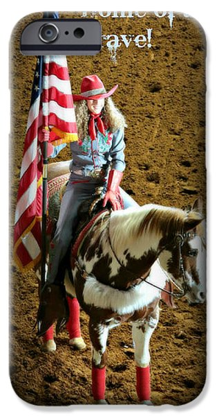 Old Glory iPhone Cases - America -- Rodeo-Style iPhone Case by Stephen Stookey