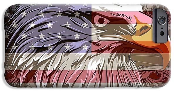 Nation iPhone Cases - America The Beautiful iPhone Case by Stanley Mathis