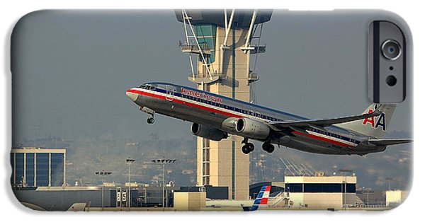 Aviation Pyrography iPhone Cases - American Airlines Boeing 737 N944AN iPhone Case by Jason  Sewell