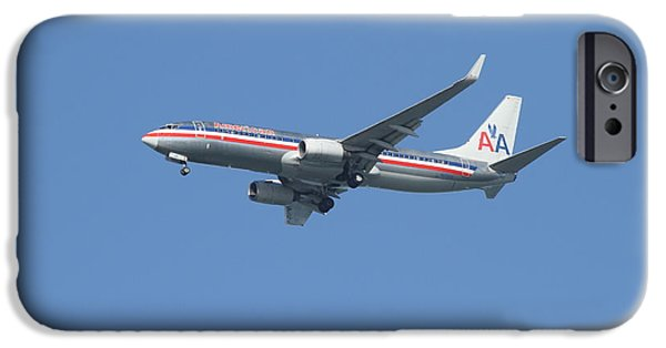 Boeing 747 iPhone Cases - American Airlines Jet 7D21917 iPhone Case by Wingsdomain Art and Photography