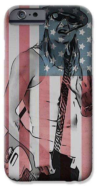 American Flag Digital Art iPhone Cases - American Badass iPhone Case by Dan Sproul