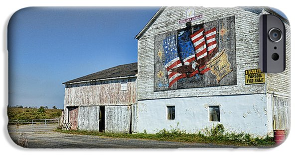 Old Glory iPhone Cases - American Barn iPhone Case by Paul Ward
