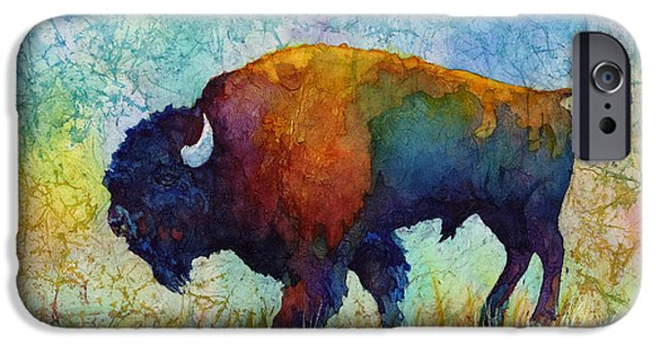 Bison iPhone Cases - American Buffalo 5 iPhone Case by Hailey E Herrera
