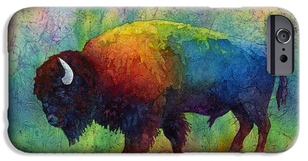 Bison iPhone Cases - American Buffalo 6 iPhone Case by Hailey E Herrera