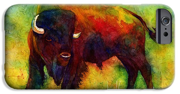 Bison iPhone Cases - American Buffalo iPhone Case by Hailey E Herrera