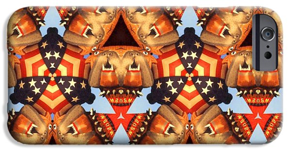 Best Buy Mixed Media iPhone Cases - American Caleidoscope - Modern Collage iPhone Case by Peter Fine Art Gallery  - Paintings Photos Digital Art
