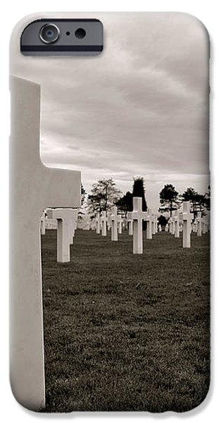 American Cemetery in Normandy  iPhone Case by Olivier Le Queinec