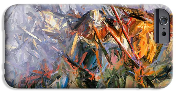 Weapon Paintings iPhone Cases - American Civil War - Abstract Expressionism iPhone Case by Georgiana Romanovna