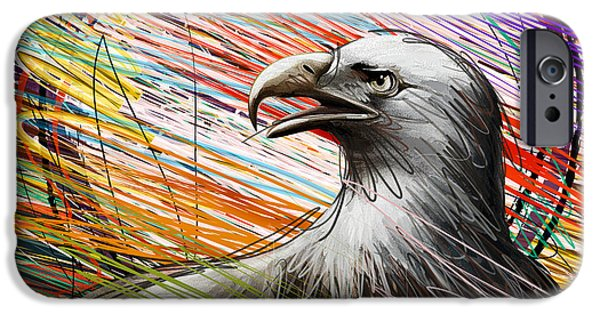 Recently Sold -  - 4th July Mixed Media iPhone Cases - American Eagle iPhone Case by Bedros Awak