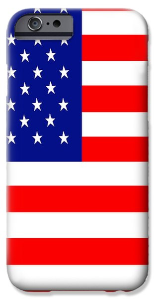 American Flag . Square iPhone Case by Wingsdomain Art and Photography