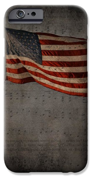 United States iPhone Cases - American Flag iPhone Case by A R Williams