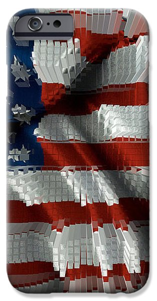 American Flag Abstract iPhone Case by Todd and candice Dailey