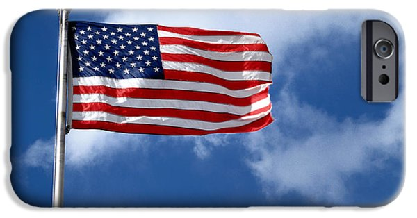 Old Glory iPhone Cases - American Flag iPhone Case by Amy Cicconi