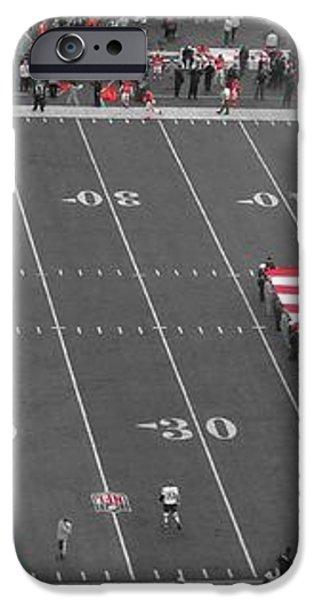 American Flag At Paul Brown Stadium iPhone Case by Dan Sproul