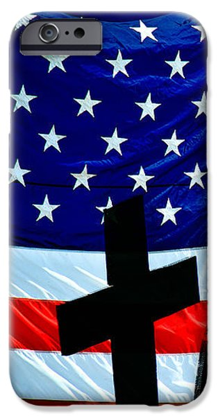 Iraq iPhone Cases - American Flag At Rest iPhone Case by Bob Orsillo