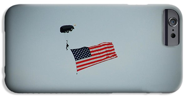 United iPhone Cases - American Flag in the Sky iPhone Case by Aimee L Maher Photography and Art