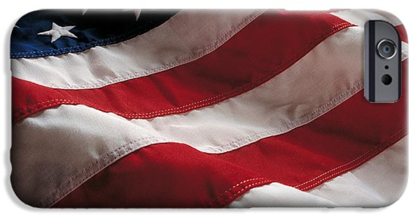 Flag iPhone Cases - American Flag iPhone Case by Jon Neidert
