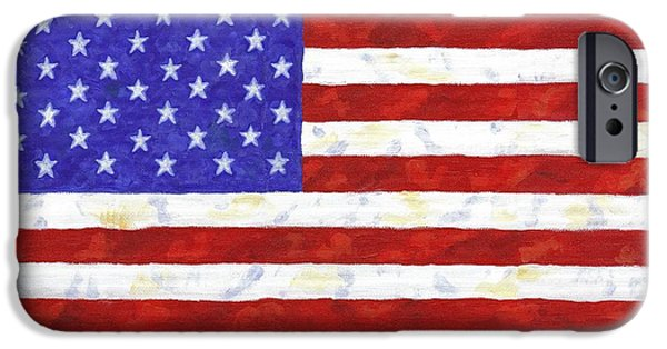 Recently Sold -  - July 4th iPhone Cases - American Flag iPhone Case by Linda Mears