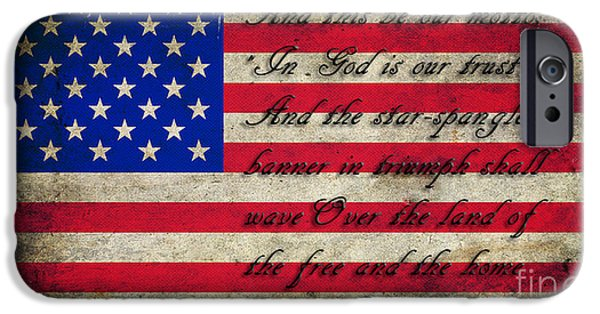 4th Of July iPhone Cases - American Flag Tribute iPhone Case by Miryam  UrZa