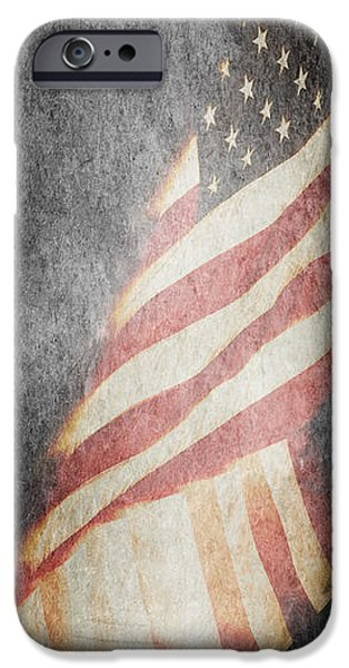 Nation iPhone Cases - American Flag iPhone Case by Pam  Holdsworth
