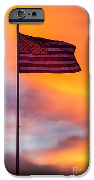 Betsy Ross iPhone Cases - American Flag iPhone Case by Robert Bales