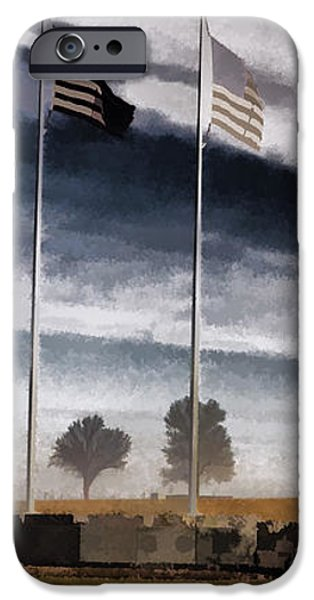 American Flag Still Standing iPhone Case by Luther   Fine Art