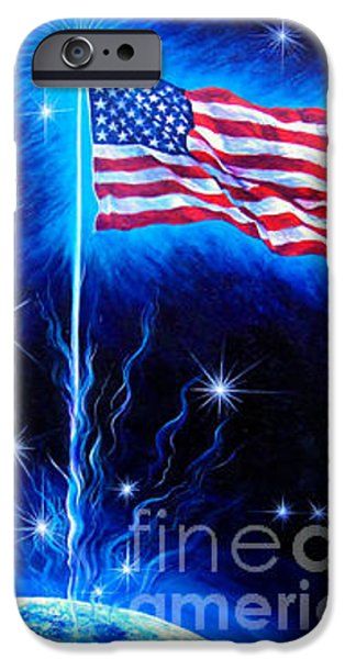 Star Spangled Banner Paintings iPhone Cases - American Flag. The Star Spangled Banner iPhone Case by Sofia Metal Queen