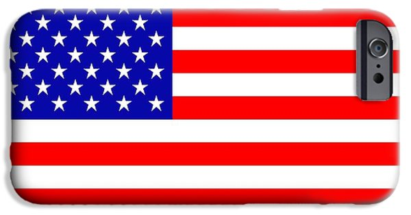 Waving Flag Mixed Media iPhone Cases - American flag iPhone Case by Toppart Sweden