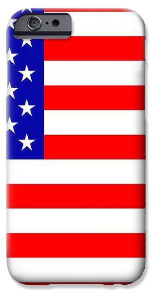 American flag iPhone Case by Toppart Sweden
